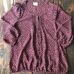 Anthropologie Pins And Needles hearts blouse